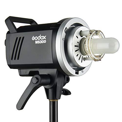 GODOX MS300 スタジオフラッシュ 300W 110V 内蔵2.4Gワイヤレスシステム 色温度5600K±200K