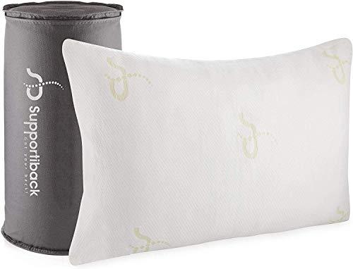 Verstellbares Loft-Kissen in Premiumqualität – hypoallergenes Anti-Schnarch Schaum-Kissen mit kühlendem Effekt – waschbarer Bezug aus Bambus – von Ärzten entworfen/CertiPUR-Zertifiziert