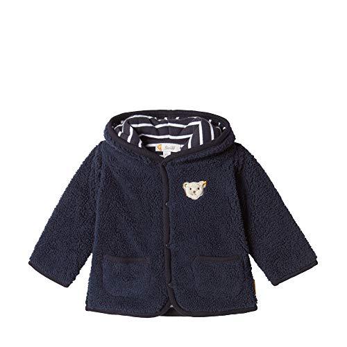 Steiff Baby-Jungen Fleece Jacket Sweatjacke, Blau (BLACK IRIS 3032), 86 (Herstellergröße:86)