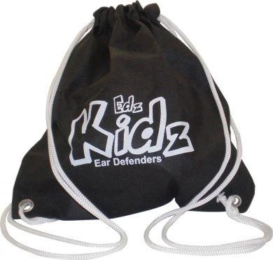 Edz Kidz Kinder Gehörschutz Kapselgehörschutz Kordelzug-Tragetasche (schwarz)