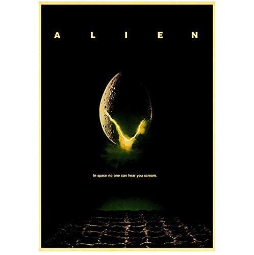YTHK Home Art Movie Alien Retro Poster Prints Impresiones de Pared Sala de Estar Decoración del hogar B, 50X70 CM