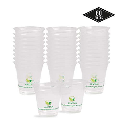 bodas 16 unidades camping playa y picnic 500 ml vasos de pl/ástico duro para servir fiestas Vasos de pl/ástico reutilizables
