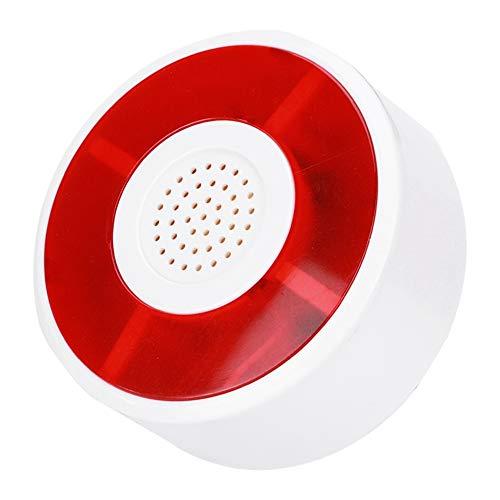 ASHATA LED Alarmanlage, DC 12V Sirene Sicherheitsalarm Warnlicht Alarmsirene mit Blinklampe, Außensirene Lichtton Alarmanlage für das Home Office