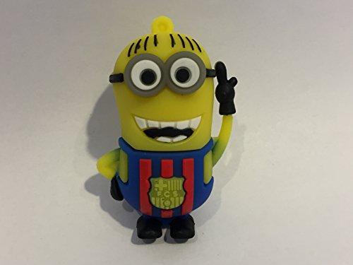 USB 16gb Goma Minion equipación fútbol Azul-grana Barcelona