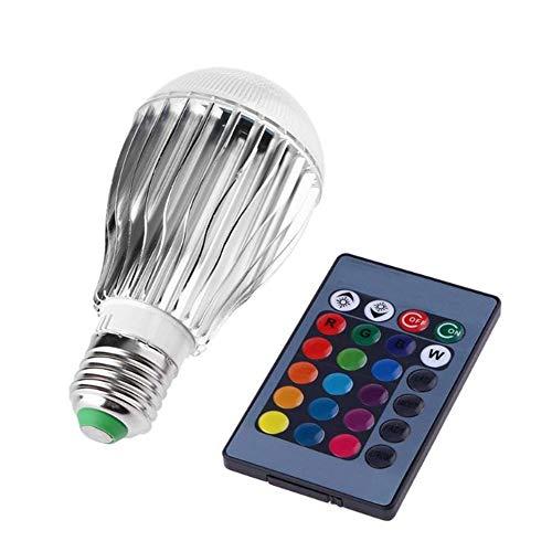 RVB Ampoules à LED changeant de Couleur Ampoules 9W E27 Base avec lumière du Jour Blanc et télécommande Flood Ampoule