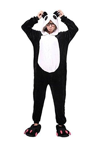 Kenmont Tier Schlafanzug Cosplay Kostüm Einhorn Pyjama Tierkostüme Jumpsuits Erwachsene Nachthemden Overall Plüschtier (S, Panda)