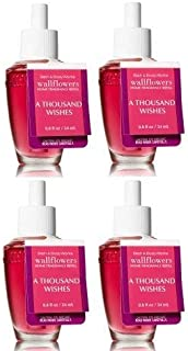 Bath and Body Works A Thousand Wishes Wallflower Fragrance Refill. 4 Pack 0.8 Oz