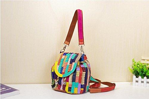 FEN Sac à bandoulière décontracté coloré rayé sac à bandoulière occasionnels