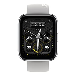 realme Smart Watch 2 Pro (Metallic Silver) with 1.75″ HD Super Bright Touchscreen, Dual-Satellite GPS, 14-Day Battery, SpO2 & Heart Rate Monitoring, IP68 Water Resistance, Free Size