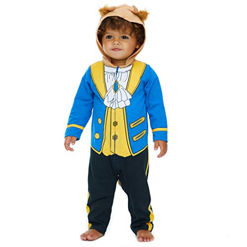 Disney The Beast Prince Baby Boys' Costume Coverall with Hood, Blue 24 Months / 2T