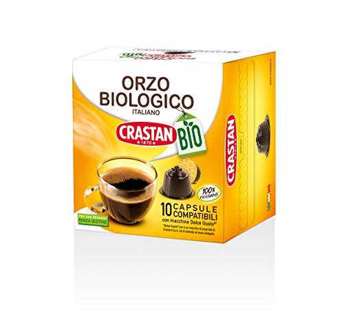 Crastan Capsule Compatibili Dolce Gusto - Orzo Biologico - 10 Confezioni da 10 Capsule [100 Capsule]