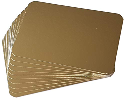 Tablas de salmón 160 x 230 mm dorada/plata bolsa de