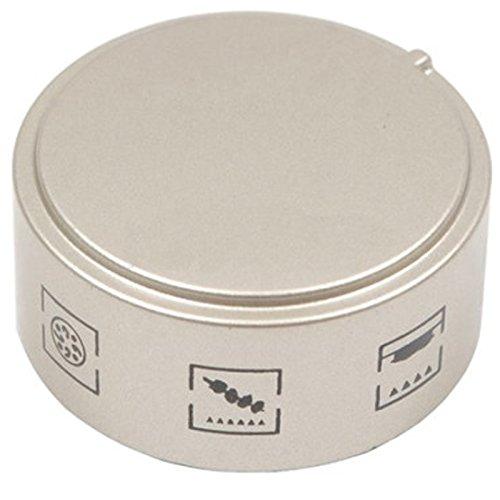 SPARES2GO 6 Funzione Leva di comando Interruttore per Hotpoint-Ariston Hot-Ari ix Fornello Forno (argento)