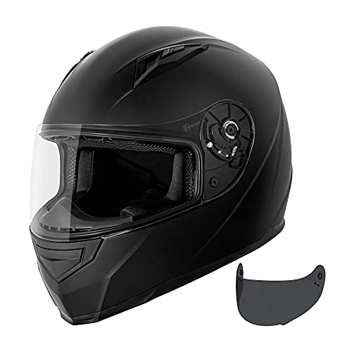 VCAN VX Lightweight Full Face Motorcycle Street Bike Helmet with Extra Tinted Visor DOT & ECE 22.05...