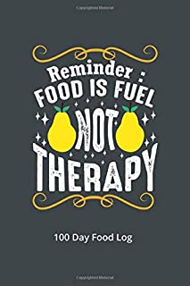 Reminder Food is Fuel Not Therapy 100 Day Food Log: 120 Page 6