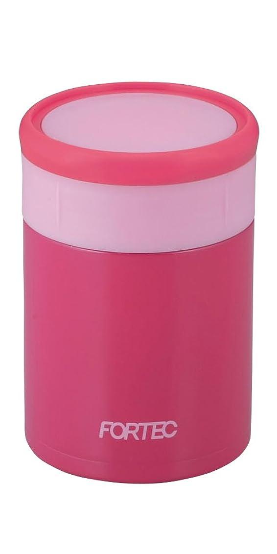 れんが建設原告和平フレイズ 弁当箱 250ml ピンク ランチポット スープ 真空断熱 保温 保冷 フォルテックランチ FLR-7141
