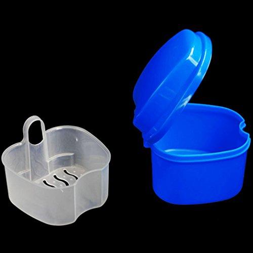 Denture Bath Box, Cleaning Teeth Case,Dental False Teeth Storage Box with...