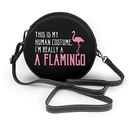 WILHJGH Este es mi disfraz humano Soy realmente flamenco Bolso de hombro...