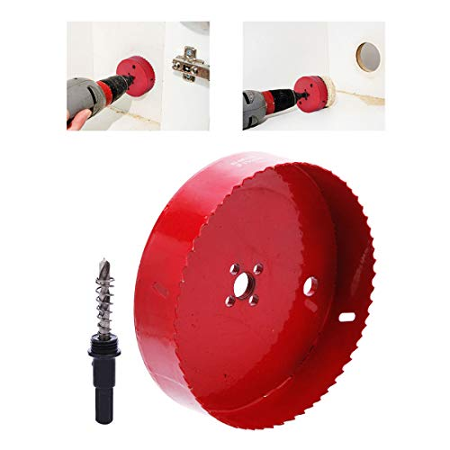 ToPicks Hole Saw Drill Bit Kit Hole Cutting Heavy Duty Opener Bimetal Hole Saw Tool for Plastic Wood Sheet Pipe Aluminum Iron (150mm)