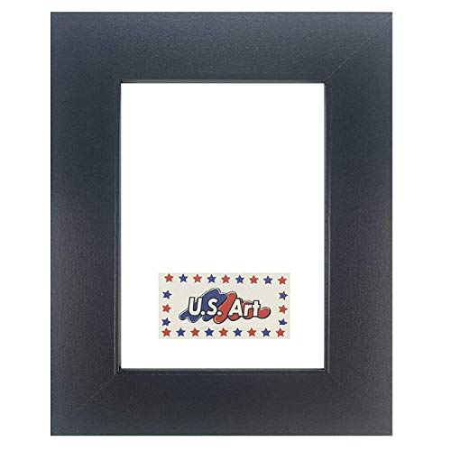 US Art Frames 24x30 Black Flat 1.25 Inch, Smooth Wrapped Finish Wood Composite Wall Decor Picture Poster Frame