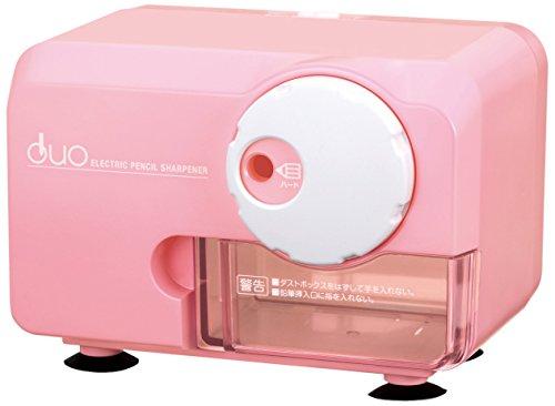 アスカ 電動シャープナーDUO ピンク 色鉛筆対応 EPS600P