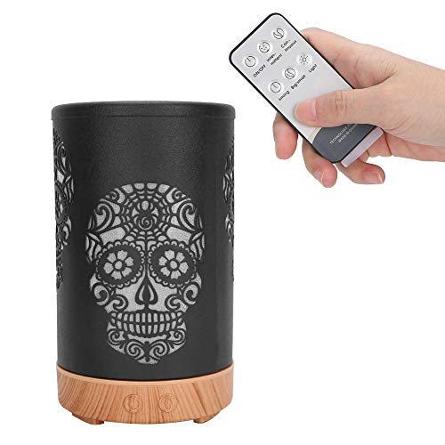 Luftbefeuchter Gesichtssauna, Diffusor mit ätherischen Ölen, Tragbare Fernbedienung Aroma Diffusor LED Licht Luftbefeuchter(EU)