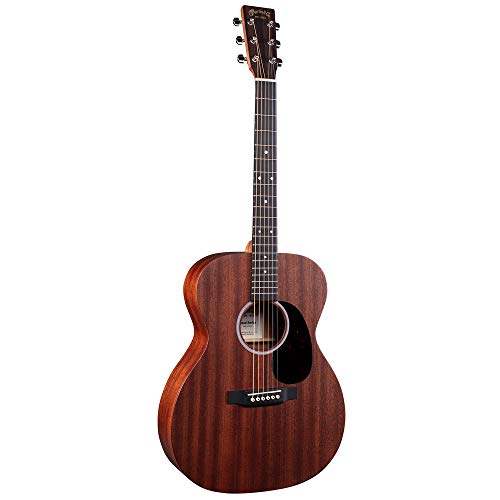 Martin Guitar Road Series 000-10E Acoustic-Electric Guitar with Gig Bag, Sapele Wood Construction, 000-14 Fret and Performing Artist Neck Shape with High-Performance Taper