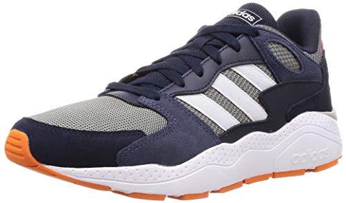 Adidas Chaos, Zapatillas para Correr Hombre, Gris Tres F17 / FTWR Blanco/Tinta legendaria, 42 2/3 EU