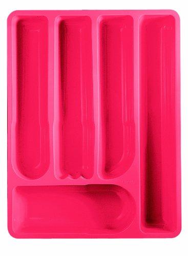 Guzzini 16730065 Range Couverts Rouge Transparent 5,5 x 39,5 x 30 cm
