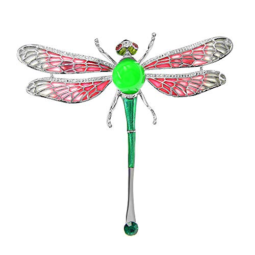 GLKHM Ladies Brooches Vintage Dragonfly Brooches Women Insect Fashion Enamel Accessories