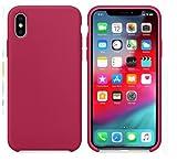 Funda de teléfono de Silicona líquida Rainbow iPhone 12 11 Pro MAX XR XS Xsmax 7 8 Plus SE 2020 Funda de TPU Nueva Funda, Rosa, para iPhone 11