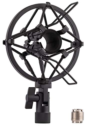 LYRCRO Universal Microphone Shock Mount for 22mm-28mm Diameter Mic Like Shure SM58 SM57 PAG48 Samson Q7 Q8 etc.