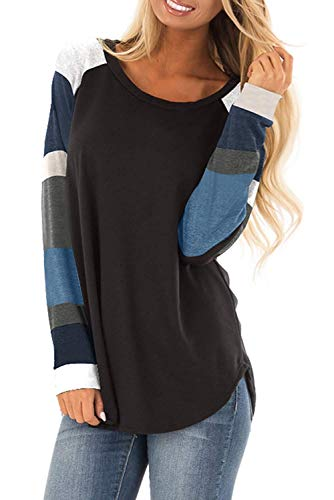 Avacoo Damska koszulka z długim rękawem, tunika, na co dzień, z długim rękawem