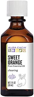 Aura Cacia 100% Pure Sweet Orange Essential Oil | GC/MS Tested for Purity | 60 ml (2 fl. oz.) | Citrus sinensis