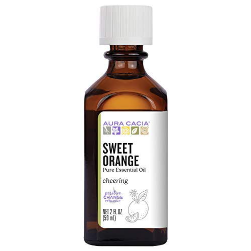 Aura Cacia 100% Pure Sweet Orange Essential Oil | GC/MS Tested for Purity | 60 ml (2 fl. oz.) | Citrus sinensis