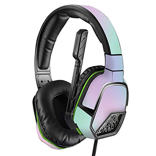 MightySkins Skin Compatible with PDP Xbox One Afterglow LVL 3 Headset - Cotton Candy | Protective, Durable, and Unique Vinyl wrap Cover | Easy to Apply, Remove, and Change Styles | Made in The USA Categories
