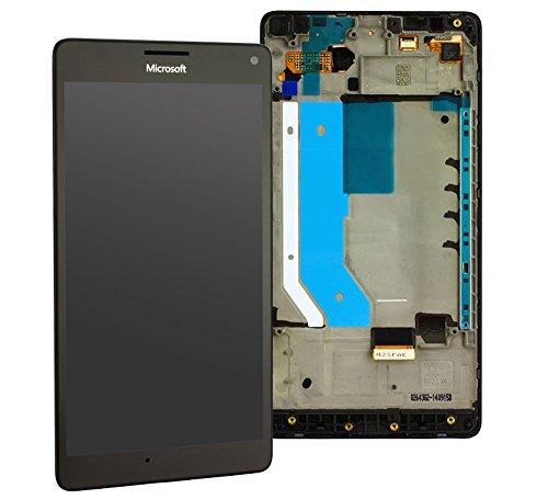 Original LCD Display für Microsoft / Nokia Lumia 950 XL & 950 XL DS Dual SIM LCD Display Touchscreen Touch Glas Bildschirm Komplett + Rahmen Schwarz PN: 00813X2