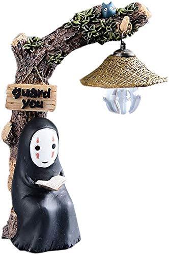 ZSNB Chihiro Figurines Sin Cara, Hombre, con la luz de la Noche, Japón Kawaii Hayao Miyazaki Studio Ghibli Sin Cara, Hombre, Figura muñeca de Juguete for Gardening Decoración