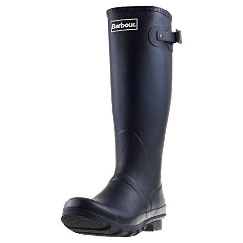 Barbour wasserfeste Winter-Gummistiefel für Schnee und Regen. Mittelhohe Stiefel., Schwarz - schwarz - Größe: 46.5 EU