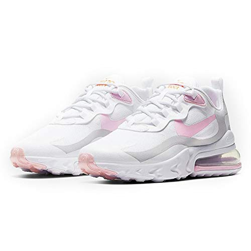 Nike Donne Air Max 270 React, Bianco (Bianco e rosa.), 38 EU