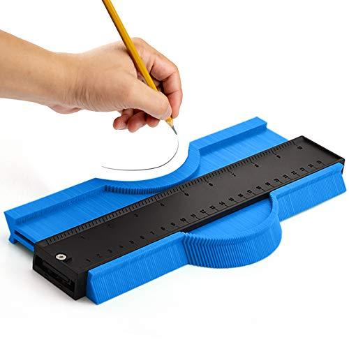 Konturenlehre Groß Konturmessgerät 250mm Kontur Duplikator Werkzeug Messgeräte Profil Vervielfältigungslehre Kopierlehre Markierungswerkzeug Laminat Fliesen Markierwerkzeug (Blau)…