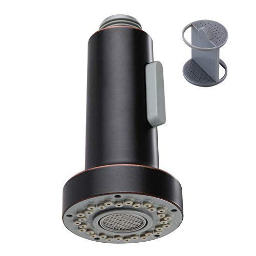 Kitchen Faucet Head, Angle Simple Pull Down Sink Faucet Spray Head, Pull Out Hose Sprayer Nozzle, Replacement Faucet Sprayer, Oil Rubbed Bronze