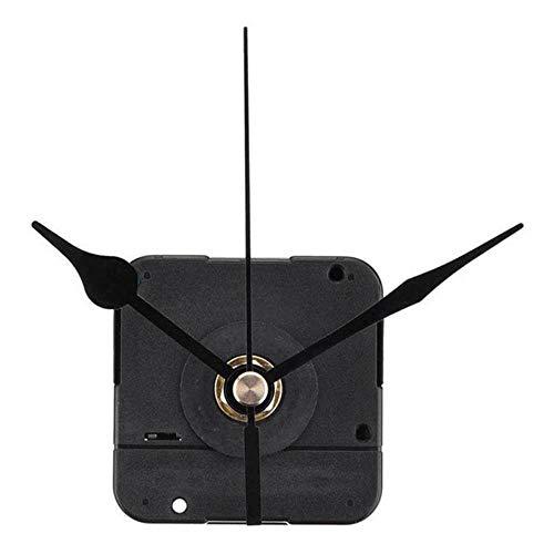 aifengxiandonglingbaihuo DIY klok mechanisme zwart kwarts stil non-ticking ronde wandklok uurwerk mechanische onderdelen reparatie vervanging need tools-1 zwart (1)