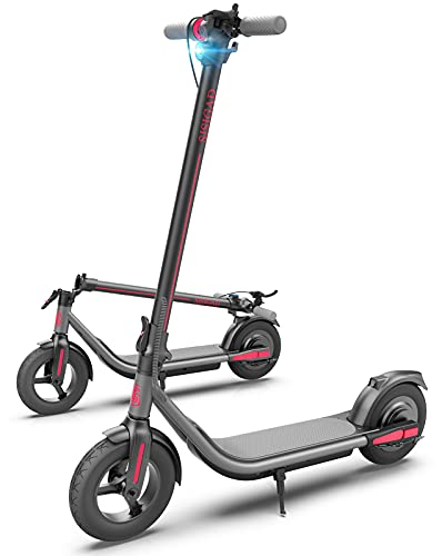 Electric Scooter for Adults, Upgraded 500W Motor & Max Speed 19 MPH, 25 Miles Long Range, 10' Care-Free Tires, Portable Folding Commuter Electric Scooter for Travel and Commuting, UL Certified