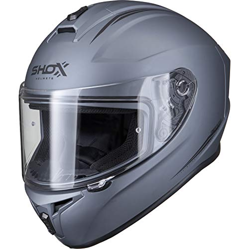 shox Sniper Evo Solid Motorradhelm XXL matt Titan