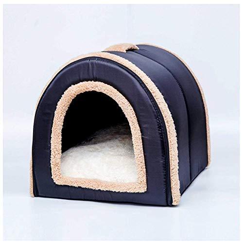 Qazxsw Cama para Perros, casa para Mascotas, sofá portátil, Antideslizante, cálido, Gato, Gatito, Cachorro, Nido, Suministros para Mascotas Plegables