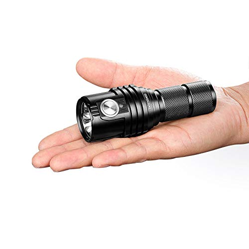 Gulu MS03 Linterna Recargable 13000 Lumens Antorcha con una batería con Carga 21700 Luz Impermeable