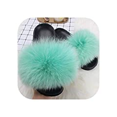 Department Name:Adult,Item Type:Slippers,Upper Material:Faux Fur,Insole Material:EVA Pattern Type:Solid,Outsole Material:PVC,Model Number:AO1765-YL50,Season:Summer Applicable Place:Outside,Lining Material:PVC,Fit:Fits true to size, take your normal s...