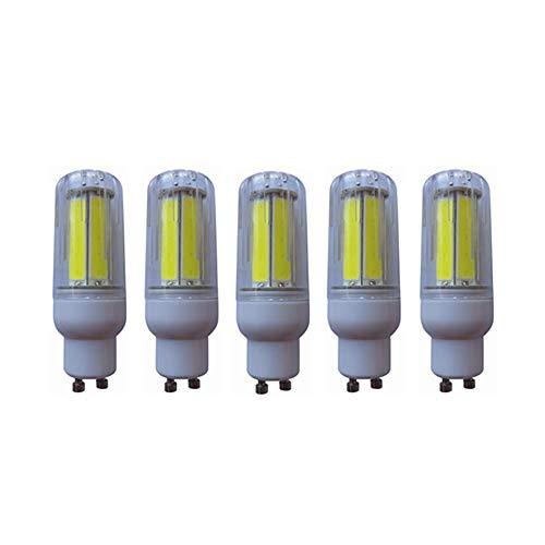 Maíz 8W GU10 Bright 5730 Blanco frío/cálido LED Bombilla de maíz Lámpara blanca 220V Aparato eficiente AC200-240V 5-Pact para garaje (Color : Warm white)