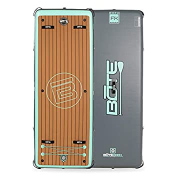 BOTE Dock FX Inflatable Floating Exercise Mat and Swim Platform  Classic
